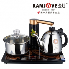 KAMJOVE/金灶K8全智能自动上水抽加水电热水壶茶具全自动电茶炉 0.9L 不锈钢