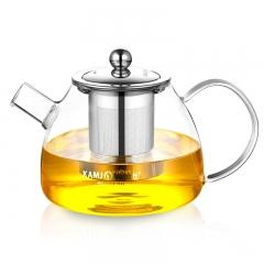 KAMJOVE/金灶 大容量茶道杯泡茶壶飘逸杯玻璃过滤茶具花茶杯 A-09 透明 1000ml
