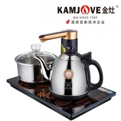 KAMJOVE/金灶K6全智能自动上水抽加水电热水壶茶具全自动电茶炉 0.9L 不锈钢