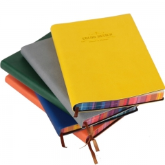 得力3184彩边皮面本PU 创意记事本 笔记本 包包随手记 颜色随机 56K/112页*2本
