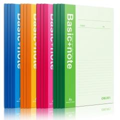 得力笔记本软面抄7650彩色会议笔记本记事本日记本子办公学生单本10本 颜色随机
