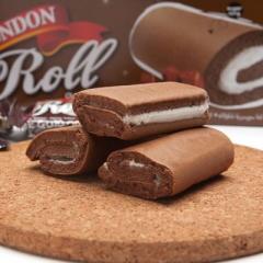 马来西亚进口伦敦卷夹心瑞士卷 休闲糕点心零食 欧式蛋糕 20g*24条/盒 巧克力味