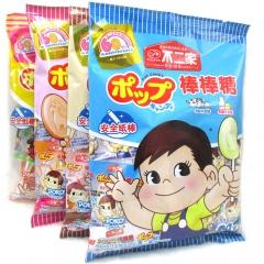 不二家 棒棒糖20支袋装水果味牛奶糖 进口水果糖 儿童休闲零食 116g*2包 巧克力+奶茶味