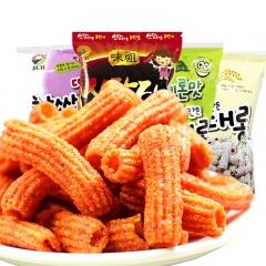 韩国进口九日炒年糕 年糕条 办公室膨化香辣休闲零食品 辣味100*3包 365(天)