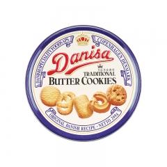 Danisa皇冠曲奇饼干丹麦牛油原味铁盒装 进口曲奇饼干休闲零食品 200g*2盒 原味