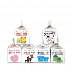 韩国进口零食 skim milk 高丽堂 迷你牛奶盒水果糖 6盒一组 35g 牛奶味