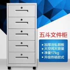 钢制文件柜小型储物柜拆装铁皮小柜子家用办公室矮柜环保 畅销五斗白色 中式
