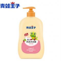 青蛙王子 儿童洗发水沐浴露二合一婴儿洗发乳宝宝新生儿沐浴乳 水果精华 310mL*2瓶