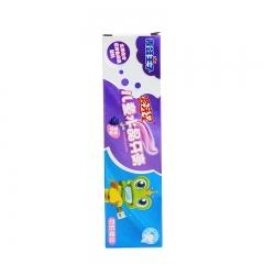 青蛙王子 宝宝儿童水晶牙膏 牙刷 儿童牙膏牙刷套装 防蛀健齿 清晰口腔 葡萄味*4支 抗菌护龈