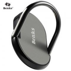 邦克仕(Benks)多功能手机支架金属指环扣旋转支架车载支架 黑色