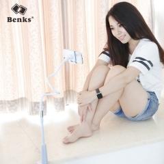 Benks 懒人手机支架 平板电脑支架ipad创意手机架 床头通用夹子 经典款手机-白色