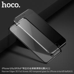 HOCO iPhone6/6S手机保护膜 苹果7P/8P窄边3D全屏高清钢化膜 黑色 iPhone6