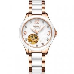 GEMAX/格玛仕 正品防水自动机械手表 女款时尚品牌腕表 玫瑰金 指针