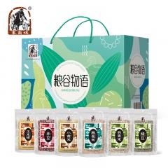 塞翁福南北干货粮谷物语杂粮礼盒6种组合燕麦荞麦赤豆大礼包 2.4kg/6袋 290*130*210m
