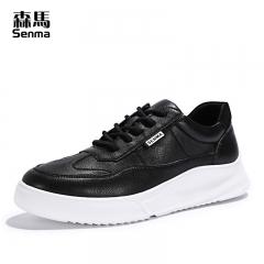森马板鞋男冬季韩版潮鞋小白鞋百搭新款春季黑色男士休闲鞋子 黑色 38