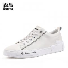 森马休闲鞋子男潮鞋百搭新款夏天透气学生平底低帮小白色板鞋 白色 38