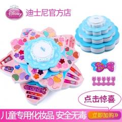 迪士尼女孩玩具儿童化妆品公主彩妆盒套装安全无毒小女童生日礼物 冰雪款