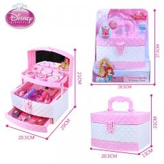 正品 迪士尼儿童化妆品公主彩妆盒套装女孩玩具过家家玩具 无毒 专业手提化妆箱