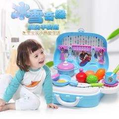 迪士尼过家家厨房玩具男女童玩具3-5岁做饭玩具厨房玩具 仿真厨具 冰雪奇缘过家家厨房