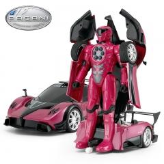 星辉娱乐rastar帕加尼遥控变形机器人金刚遥控汽车儿童玩具车模 紫红色 6-11岁
