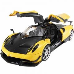 RASTAR/星辉娱乐 帕加尼仿真可开门充电遥控汽车 黄色 官方标配