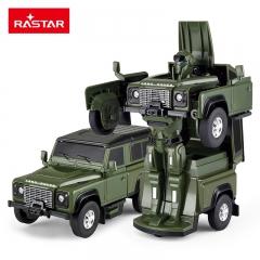 RASTAR/星辉 变形汽车机器人路虎战警一键变形金刚儿童玩具男孩 路虎 绿野战警 【绿色】 6岁