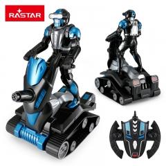 RASTAR/星辉 未来战警遥控机器人USB充电儿童智能跳舞玩具 宇宙黑 塑料