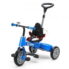 rastar星辉1-4岁儿童三轮车 宝马mini儿童折叠自行车宝宝手推车 酷炫蓝 1-3岁