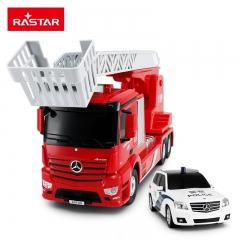 RASTAR/星辉 奔驰遥控消防车警车套装男孩遥控汽车模型玩具车新品 消防车【红色】+警车【白色】