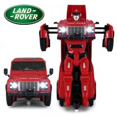 RASTAR/星辉 儿童遥控变形汽车机器人玩具路虎战警变形金刚男孩 烈焰战警 【红色】 路虎官方授权