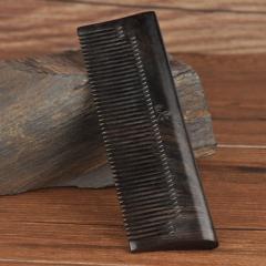 虞美人天然黑檀木梳子(黑酸枝)男士梳子专用 随身便携 送皮套 木梳 10cm(含)-15cm(不含)