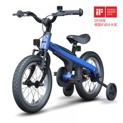 Ninebot Kids Bike儿童自行车运动款14寸儿童单车 男女款 14寸男款消光蓝带辅助轮款