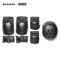 Ninebot骑行头盔九号平衡车护具套装成人儿童独轮车黑色护具 九号护具套装(S)号 护具