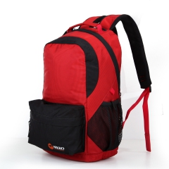 Nikko日高 户外背包男女双肩旅行徒步包 休闲包25L升电脑包NK2435 104鮮紅 25L