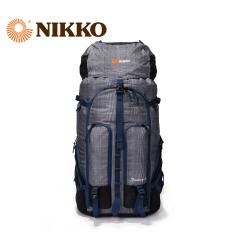 Nikko日高 带防雨罩 45L户外登山包大容量双肩徒步旅行背包NK6100 002深蓝 45L