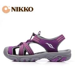 Nikko日高 溯溪鞋女沙滩鞋防滑耐磨凉鞋夏季休闲包头鞋BS5227004 587梅红 35