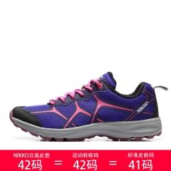 Nikko日高 女户外徒步鞋越野鞋轻便透气耐磨防滑爬山鞋NTS5207010 004紫 35