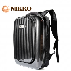 Nikko日高 旅行箱女男学生箱包17寸背包双肩包行李箱NK4068 黑色 17寸