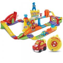 Vtech伟易达神奇轨道车智能遥控赛道 电动遥控赛车益智轨道车玩具 智能遥控赛道 塑胶玩具