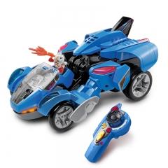 伟易达变形恐龙战神遥控霸王龙智能电动遥控赛车儿童汽车变形玩具 塑胶玩具 变形恐龙