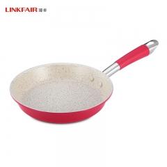 凌丰LINKFAIR 煎锅不粘锅平底锅少油烟煎蛋单柄仿大理石涂层24CM 铝合金 24CM