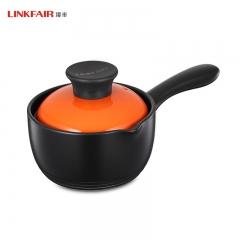凌丰LINKFAIR 奶锅耐热陶瓷锅单柄宝宝辅食锅电陶炉可用 16cm 1L