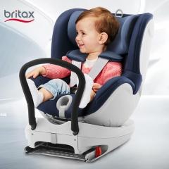 宝得适britax宝宝婴儿汽车车载isofix儿童安全座椅0-4岁双面骑士 皇室月光蓝 Isofix