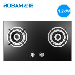 Robam/老板 32B1 燃气灶具天然气灶 液化气灶 双灶嵌入式家用煤气 黑色 天然气