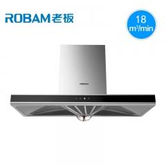 Robam/老板 CXW-200-65A5H 欧式顶吸触控大吸力抽油烟机壁挂式 不锈钢色 18立方米